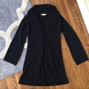 Cabi Long Black Knit Duster Cardigan Sweater 610